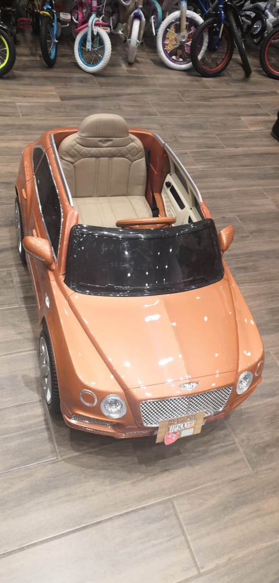 CARRO ELECTRICO BENTLEY NETAYGA NARANJA
