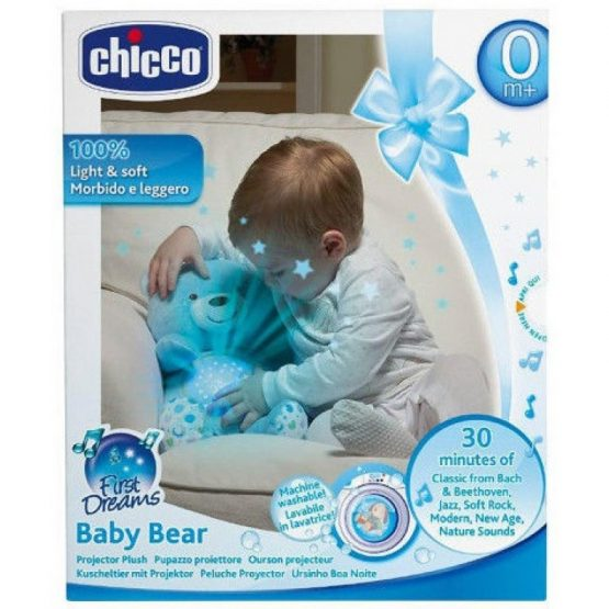 PROYECTOR FIRST DREAMS BABY BEAR AZUL CHICCO